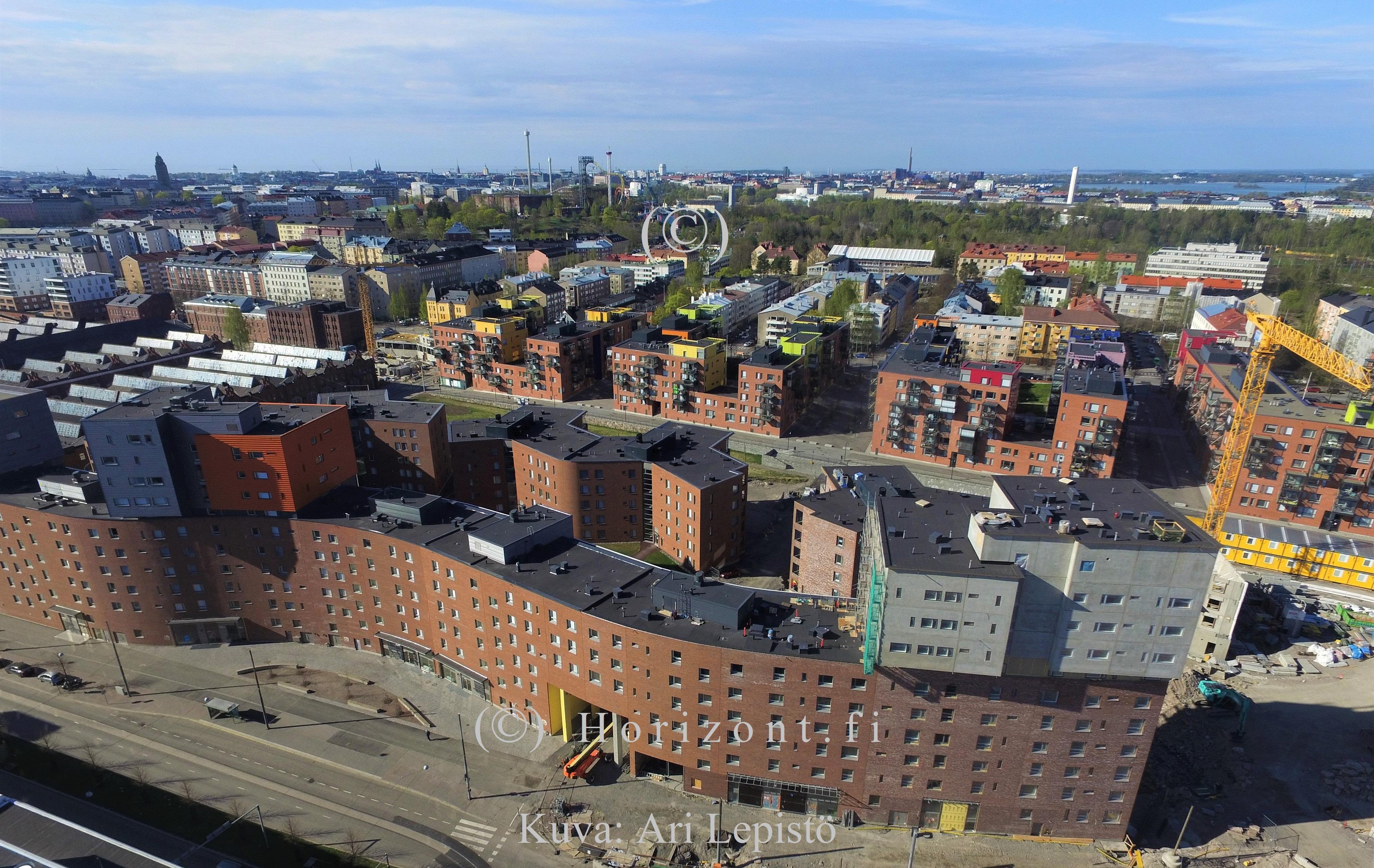 Ilmakuva: KONEPAJAN ALUE, Helsinki | Yhteishintaan kuvat nro 1-3 | HORIZONT – Ilmakuvaus