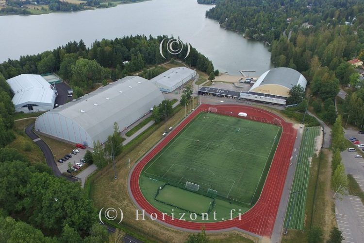 ilmakuva jalkapallokenttä