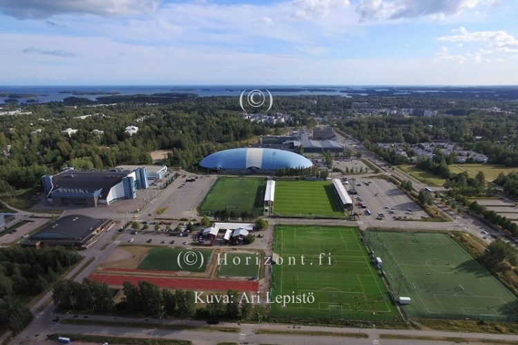 ilmakuva niittykummun urheilupuisto