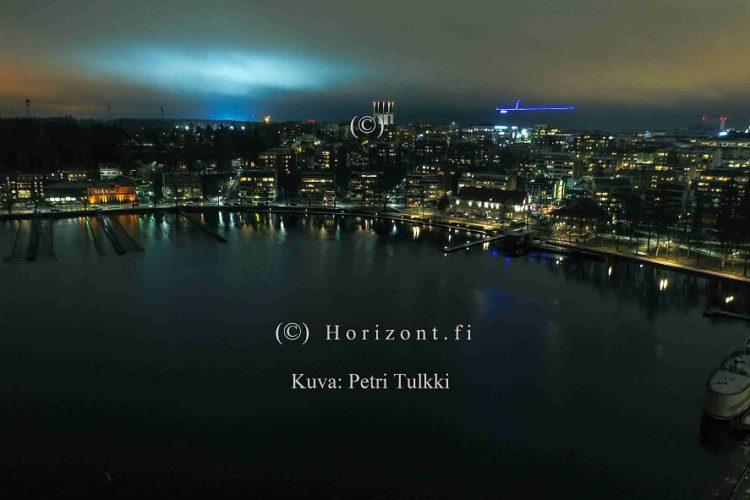 ilmakuva lappeenrannan satama yöllä