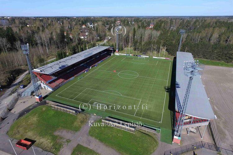 ilmakuva myyrmäen jalkapallostadion
