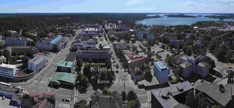 ilmakuva lohjan kaupungin keskusta