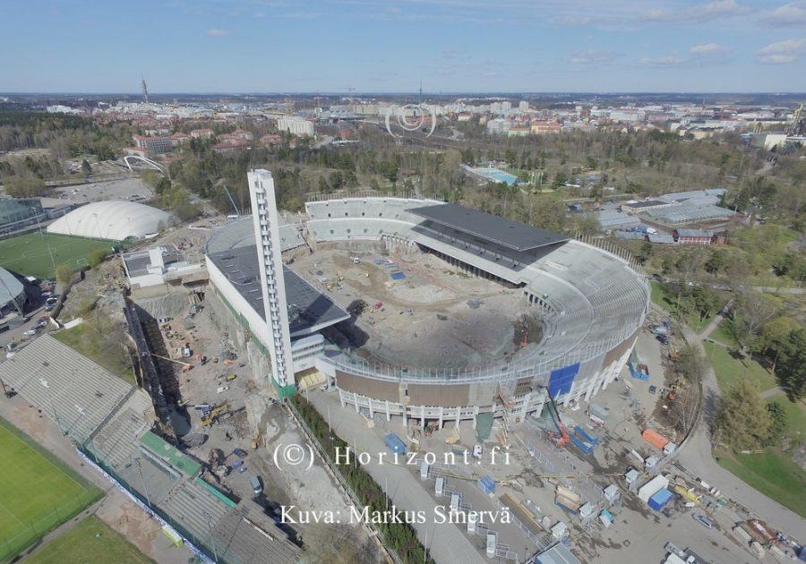 ilmakuva olympiastadion