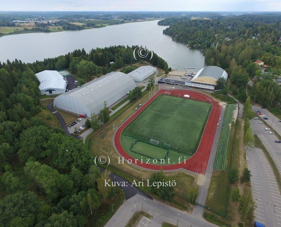 ilmakuva laaksolahden urheilualue