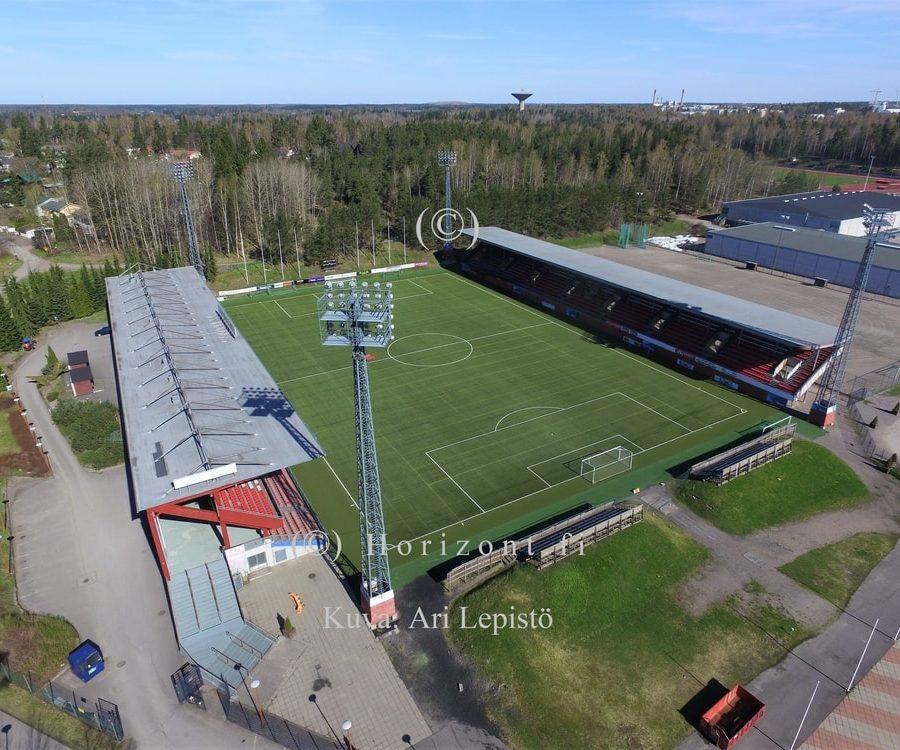ilmakuva jalkapallostadion myyrmäki
