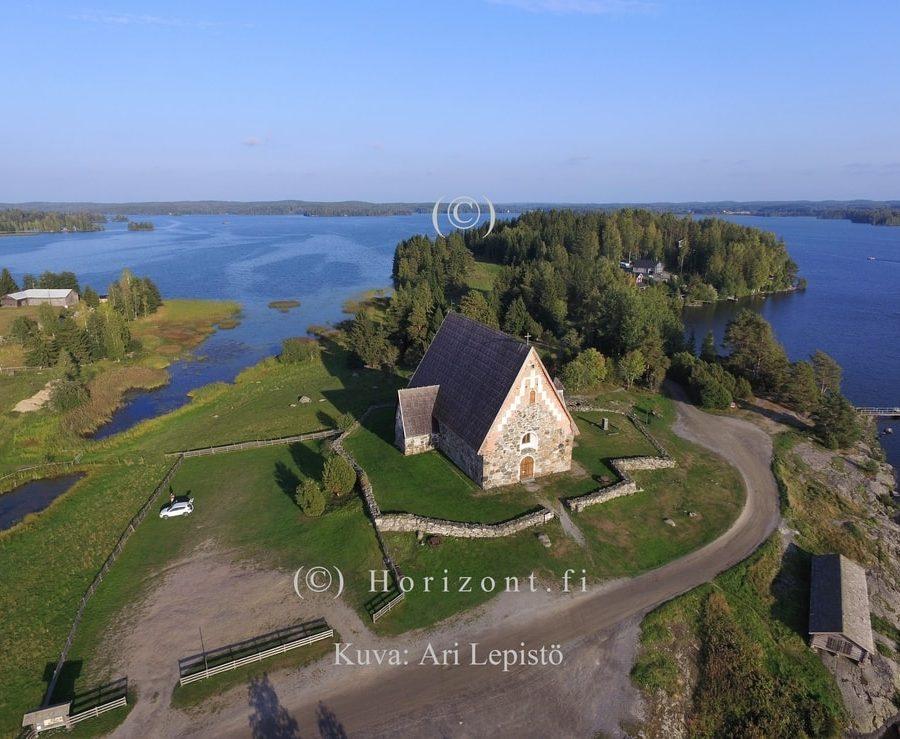 ilmakuva keski-aikainen kirkko sastamala