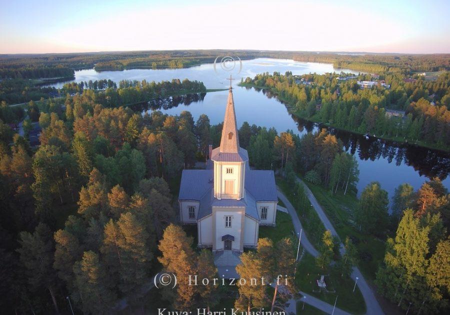 ilmakuva sotkamo kirkko
