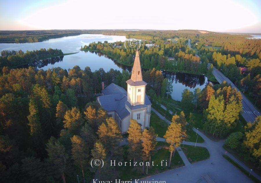 ilmakuva sotkamon kirkko