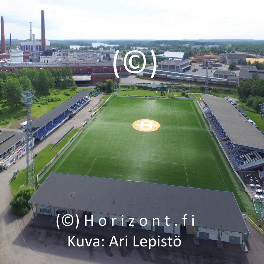 drone-kuva fc haka tehtaan kenttä